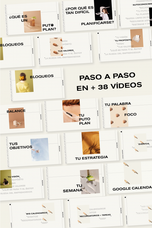 Portadas de los videos del curso ten un puto plan